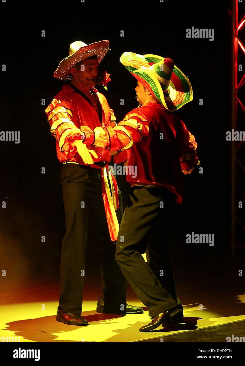 Press night of 'Wildboyz' at the Gordon Craig Theatre. Stevenage, England - 24.04.12 - Stock Image
