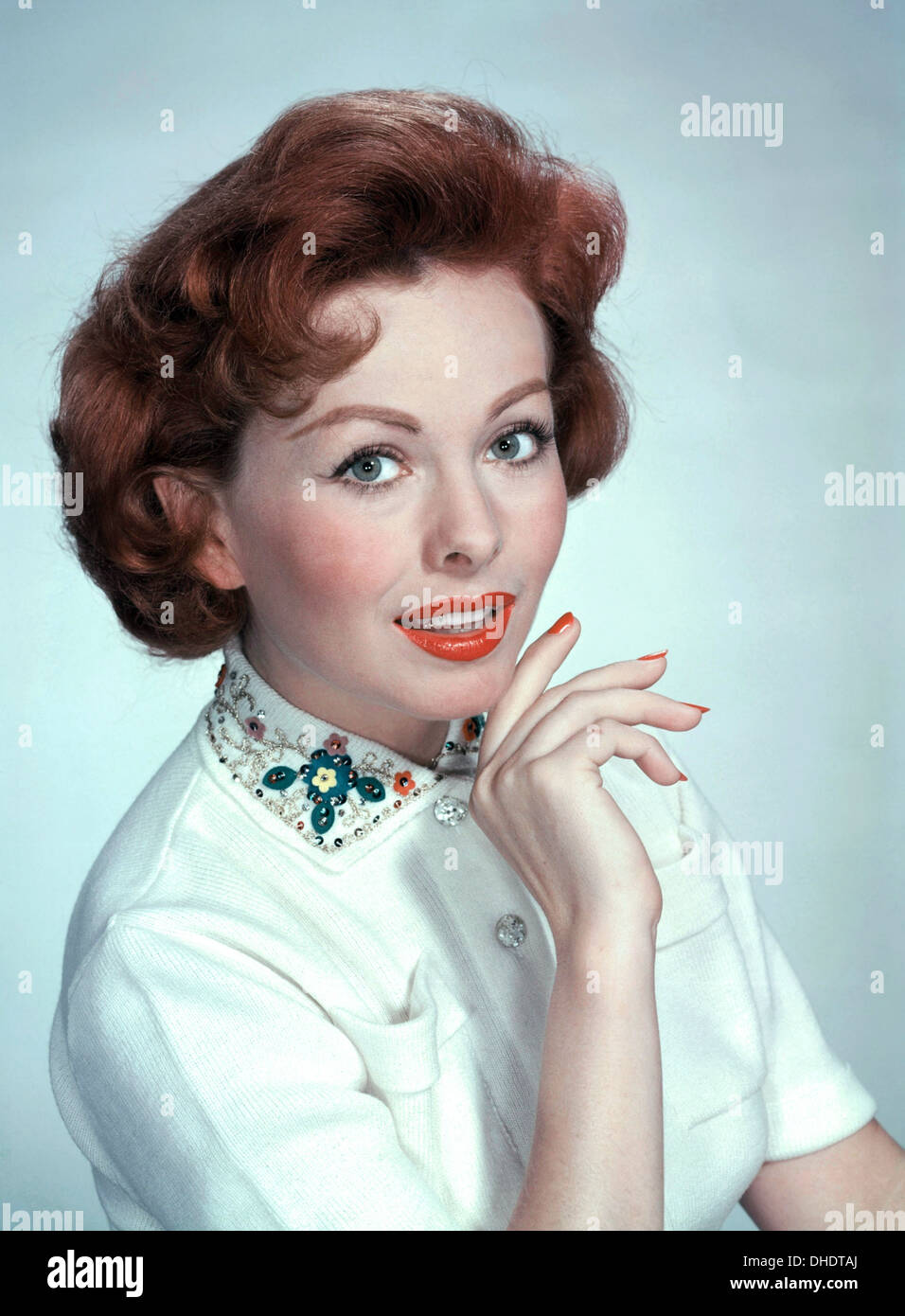 JEANNE CRAIN (1925-2003) US film actress about 1955 - Stock Image
