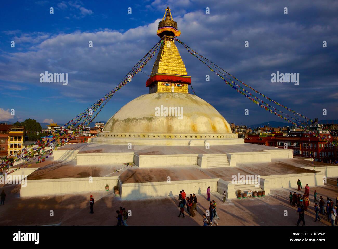 Boudha (Bodhnath) (Boudhanath) Tibetan stupa in Kathmandu, UNESCO World Heritage Site, Nepal, Asia - Stock Image
