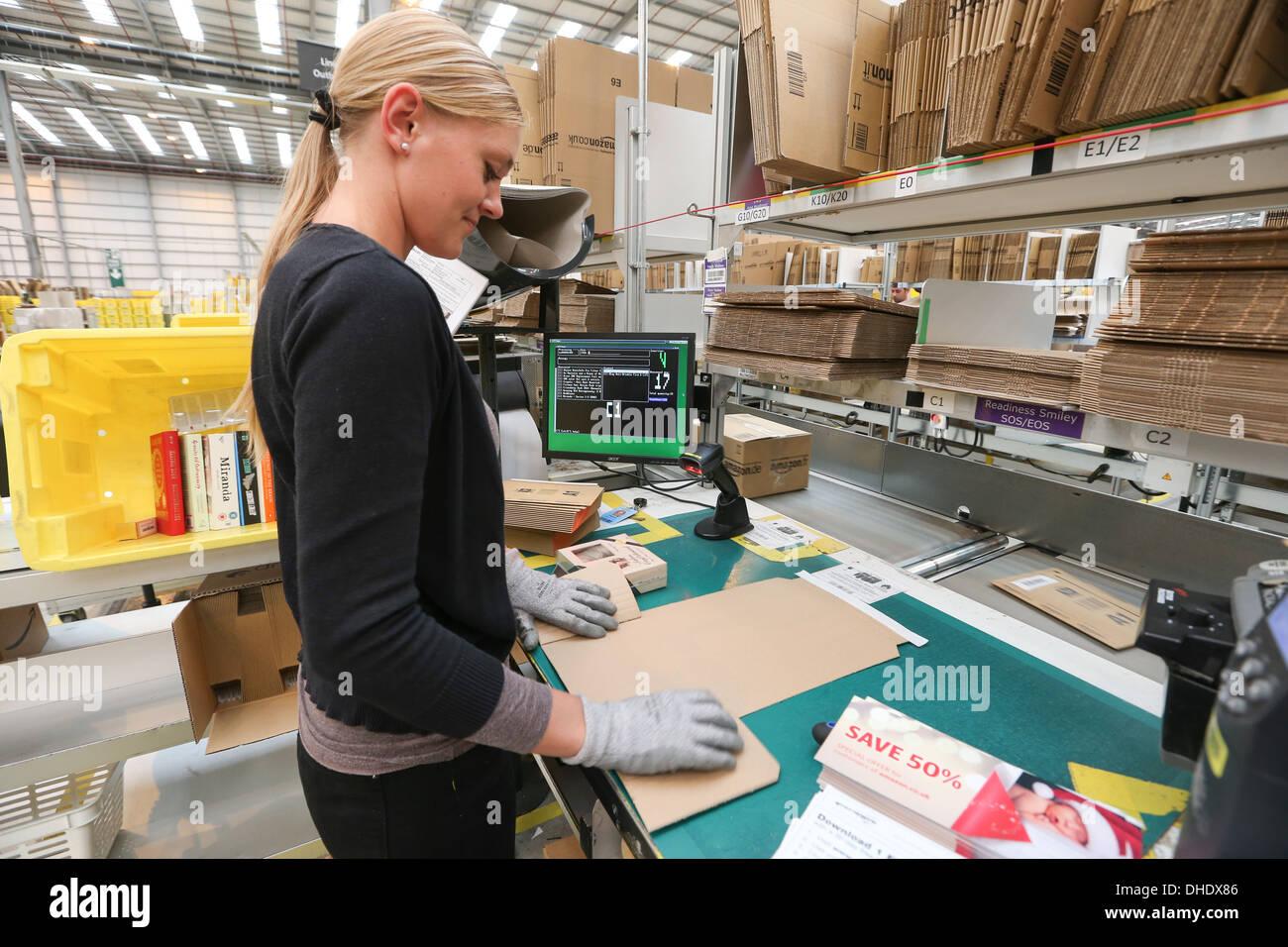 Amazon fulfilment centre (warehouse)  in Peterborough Cambridgeshire Stock Photo