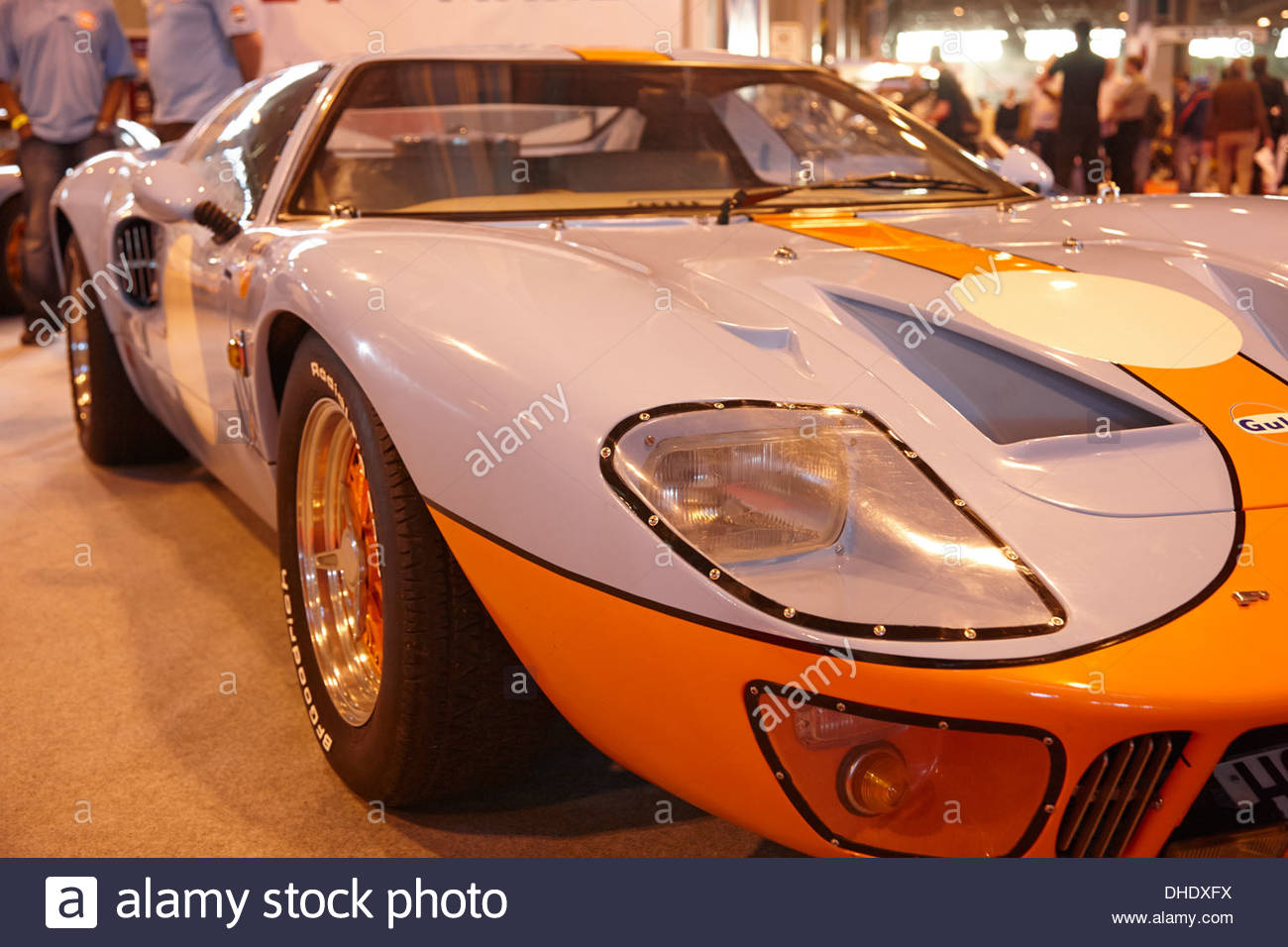 Ford Gt Racing Car Gulf Oil Colours Of Light Blue And Orange