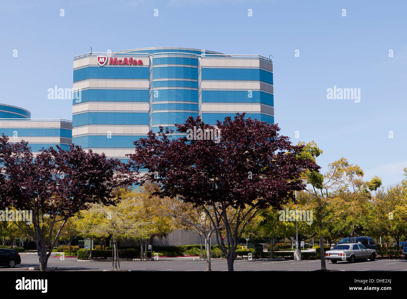 McAfee Inc headquarters building - Santa Clara, California USA - Stock Image
