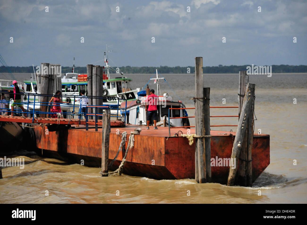 Fähranleger, Belém, Amazonas, Brasilien. Stock Photo