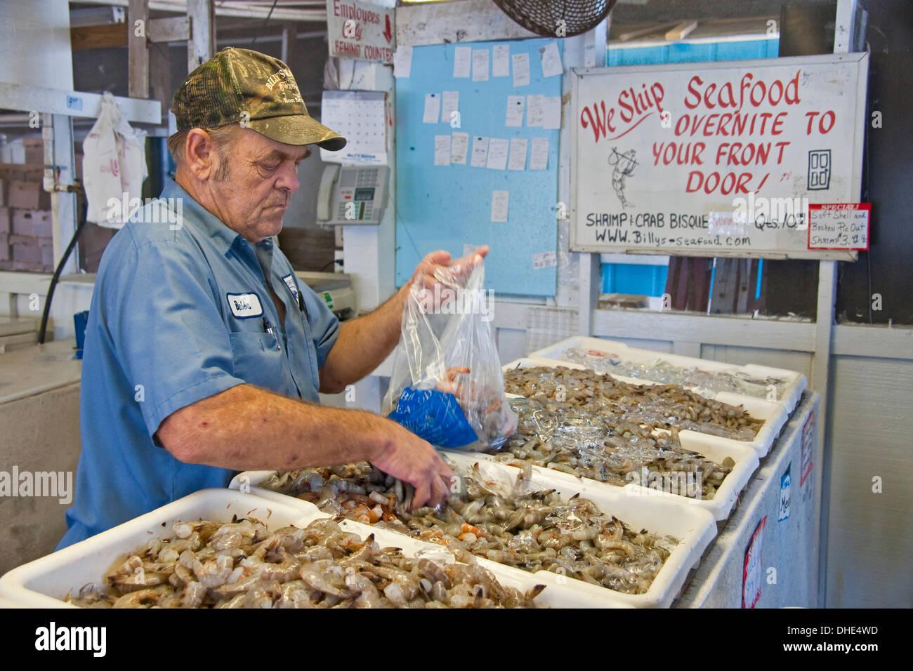 Billy's Seafood on Alabama Gulf Coast. - Stock Image