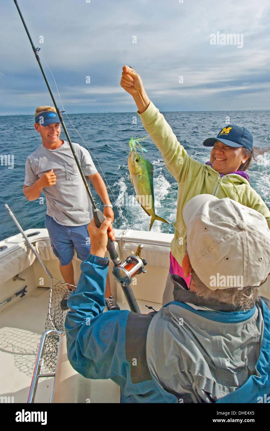 Gulf Coast fishing charter - Stock Image