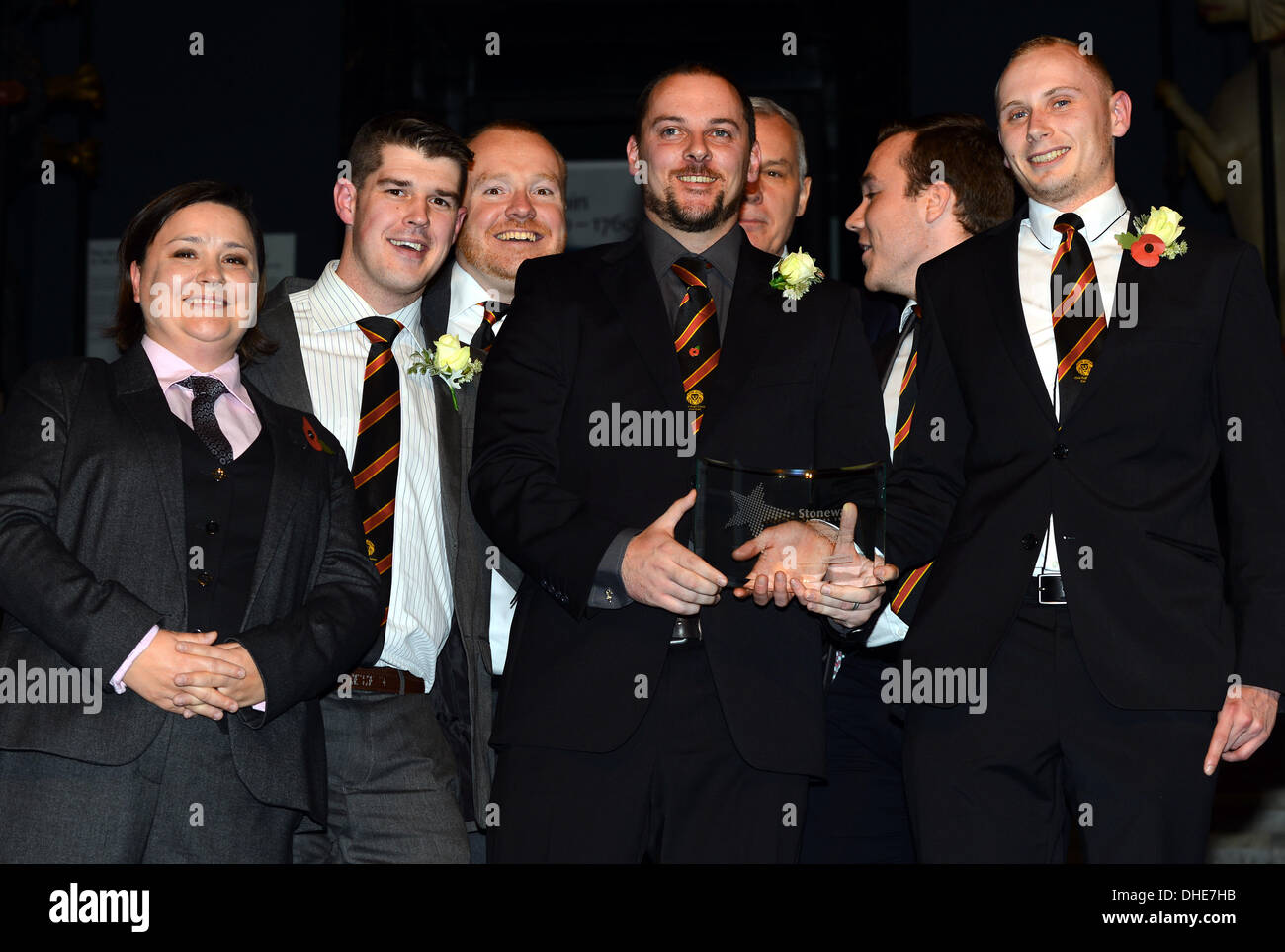 London, UK. 7th Nov 2013.  Cardiff Lions, Sports Award of the year Stonewall Awards 2013 taking place at the Victoria and Albert Museum. Credit:  See Li/Alamy Live News - Stock Image