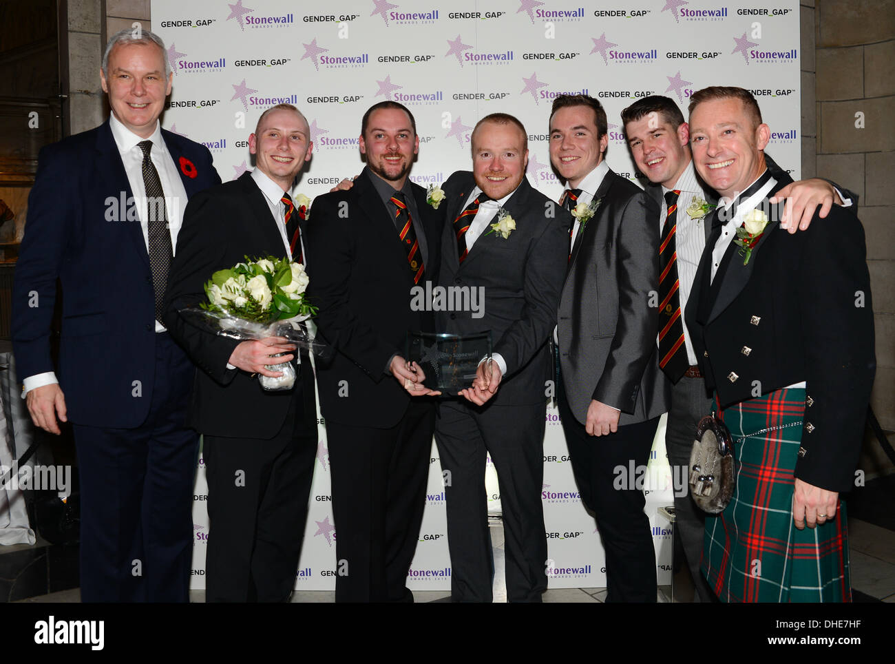 London, UK. 7th Nov 2013.  Cardiff Lions, Sports Award of the year of the Stonewall Awards 2013 taking place at the Victoria and Albert Museum. Credit:  See Li/Alamy Live News - Stock Image