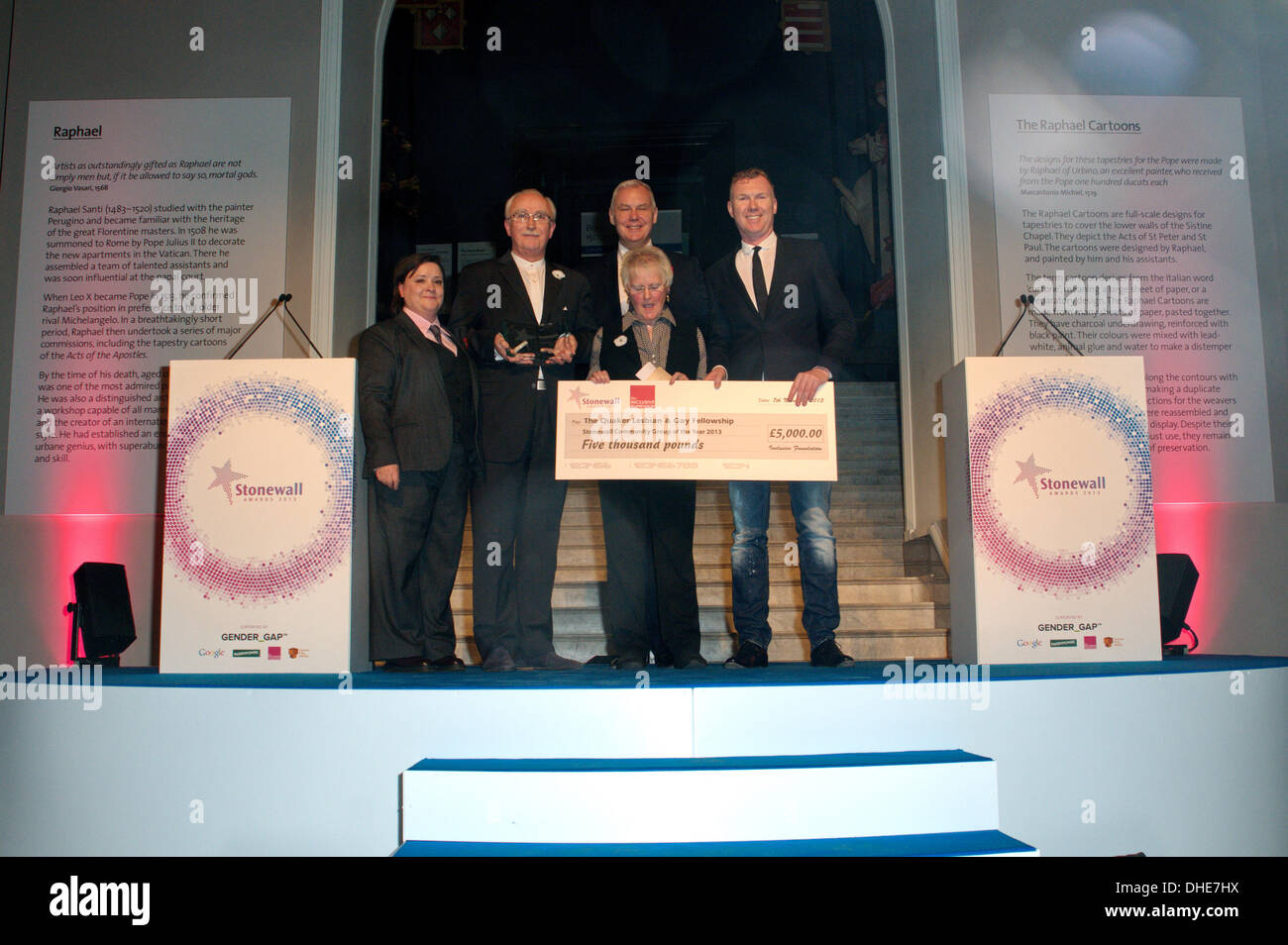 London, UK. 7th Nov 2013.  Quaker, Community Group Award of the year of the Stonewall Awards 2013 taking place at the Victoria and Albert Museum. Credit:  See Li/Alamy Live News - Stock Image