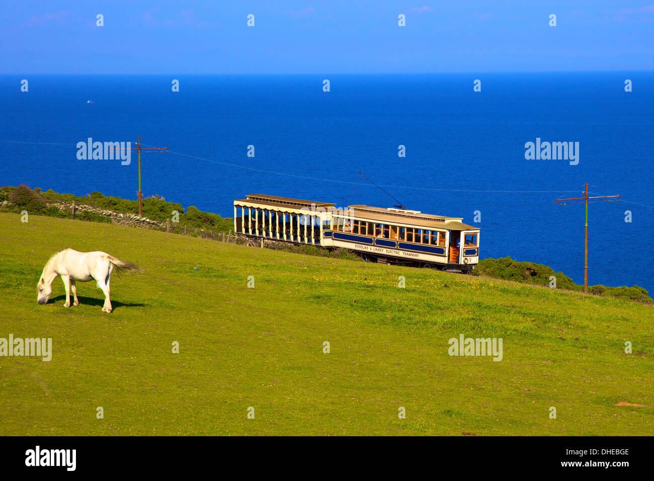 Manx Electric Railway, Isle of Man, Europe - Stock Image