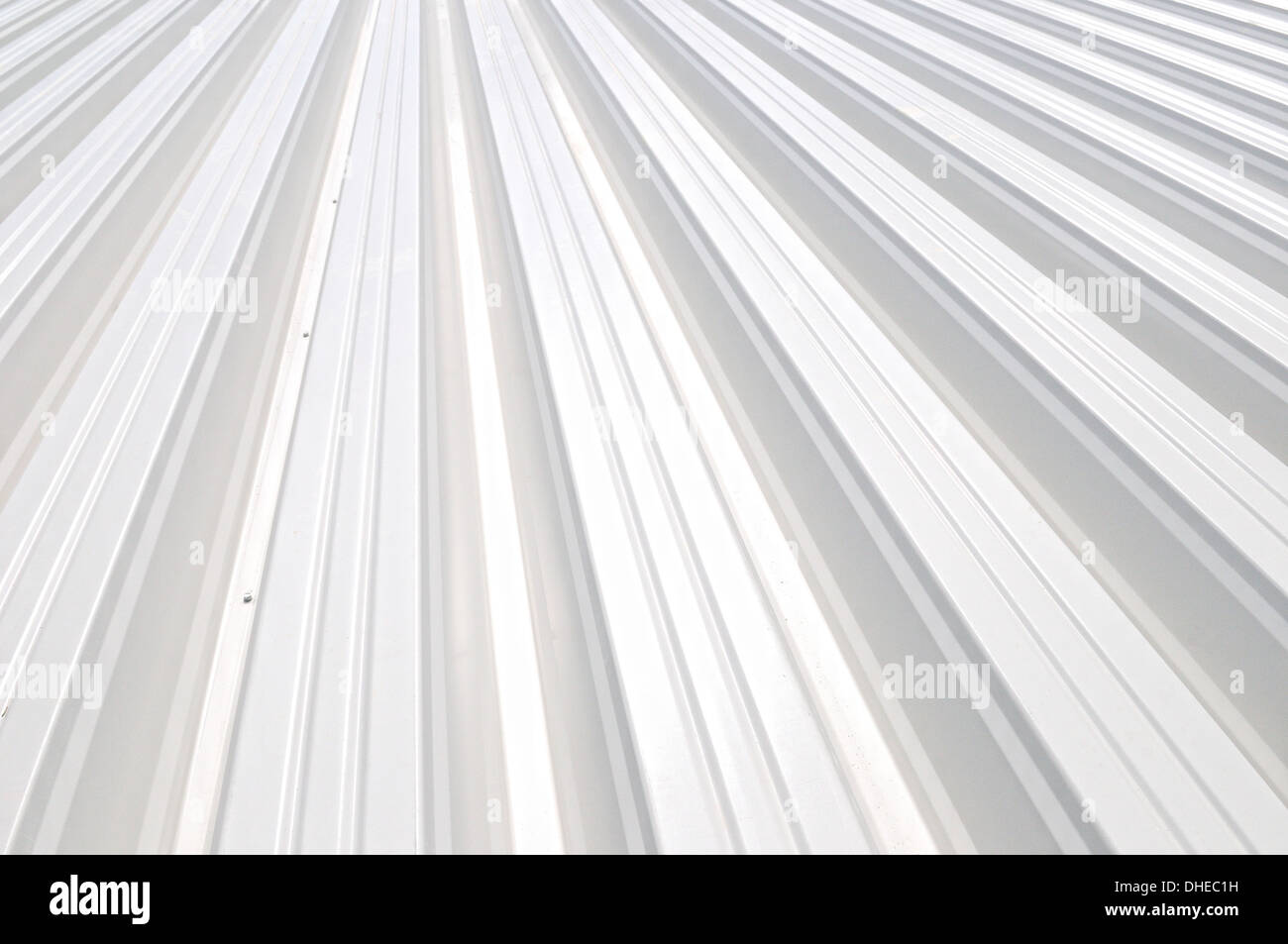white trapezoidal sheet - Stock Image
