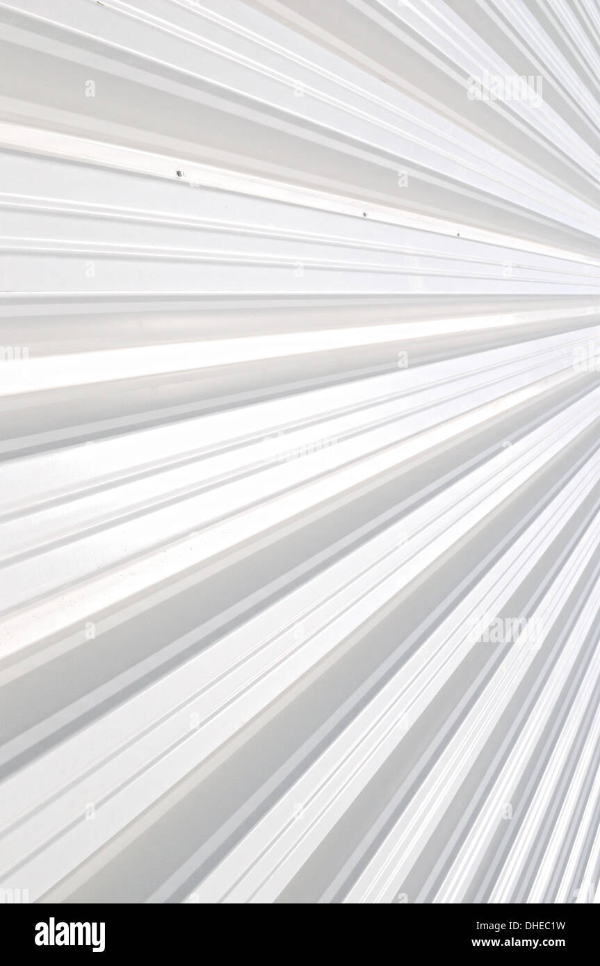Trapezoidal sheet vertical - Stock Image