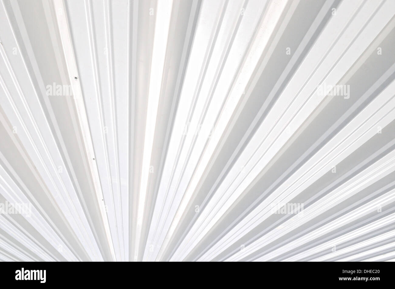 Trapezoidal sheet white - Stock Image