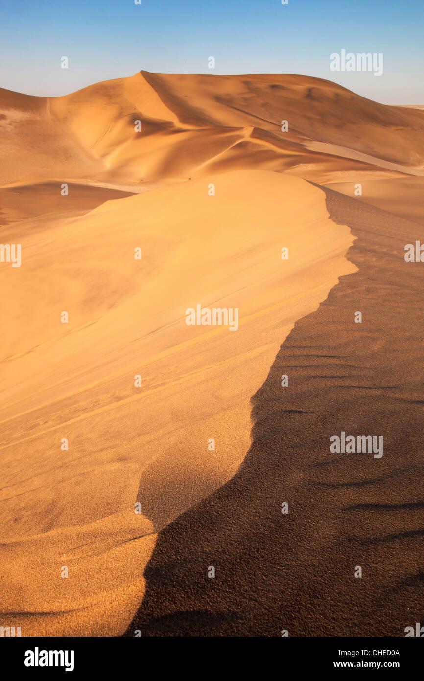 Sand dunes near Swakopmund, Dorob National Park, Namibia, Africa - Stock Image