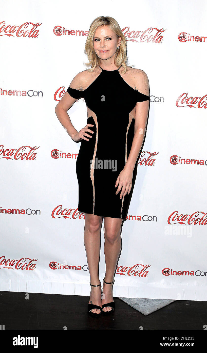Charlize Theron recipient of Distinguished Decade of Achievement in Film Award at CinemaCon awards ceremony at Pure Nightclub - Stock Image