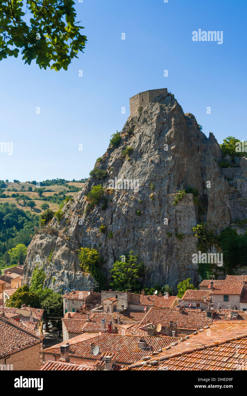 Rocca Aldobrandesca, Roccalbegna, Grosseto province, Tuscany, Italy, Europe - Stock Image
