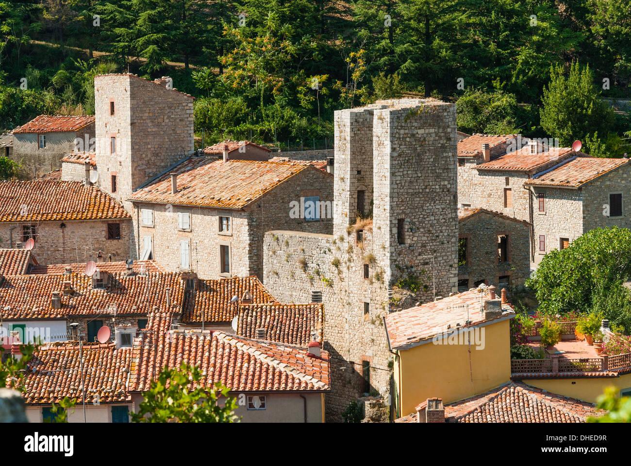 Roccalbegna, Grosseto province, Tuscany, Italy, Europe - Stock Image