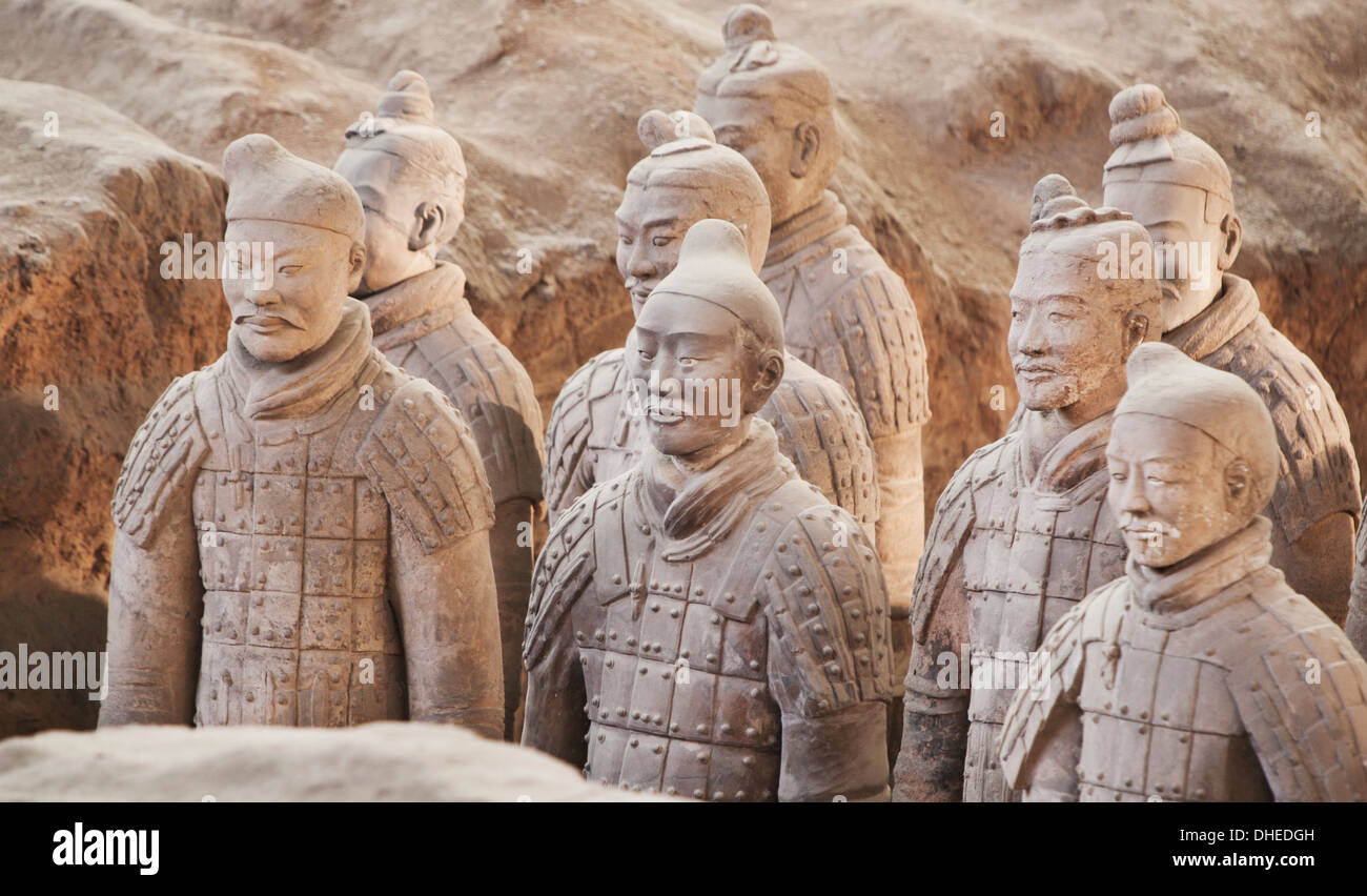 Terracotta Warrior Figures In The Tomb Of Emperor Qinshihuang Xian Shaanxi Province