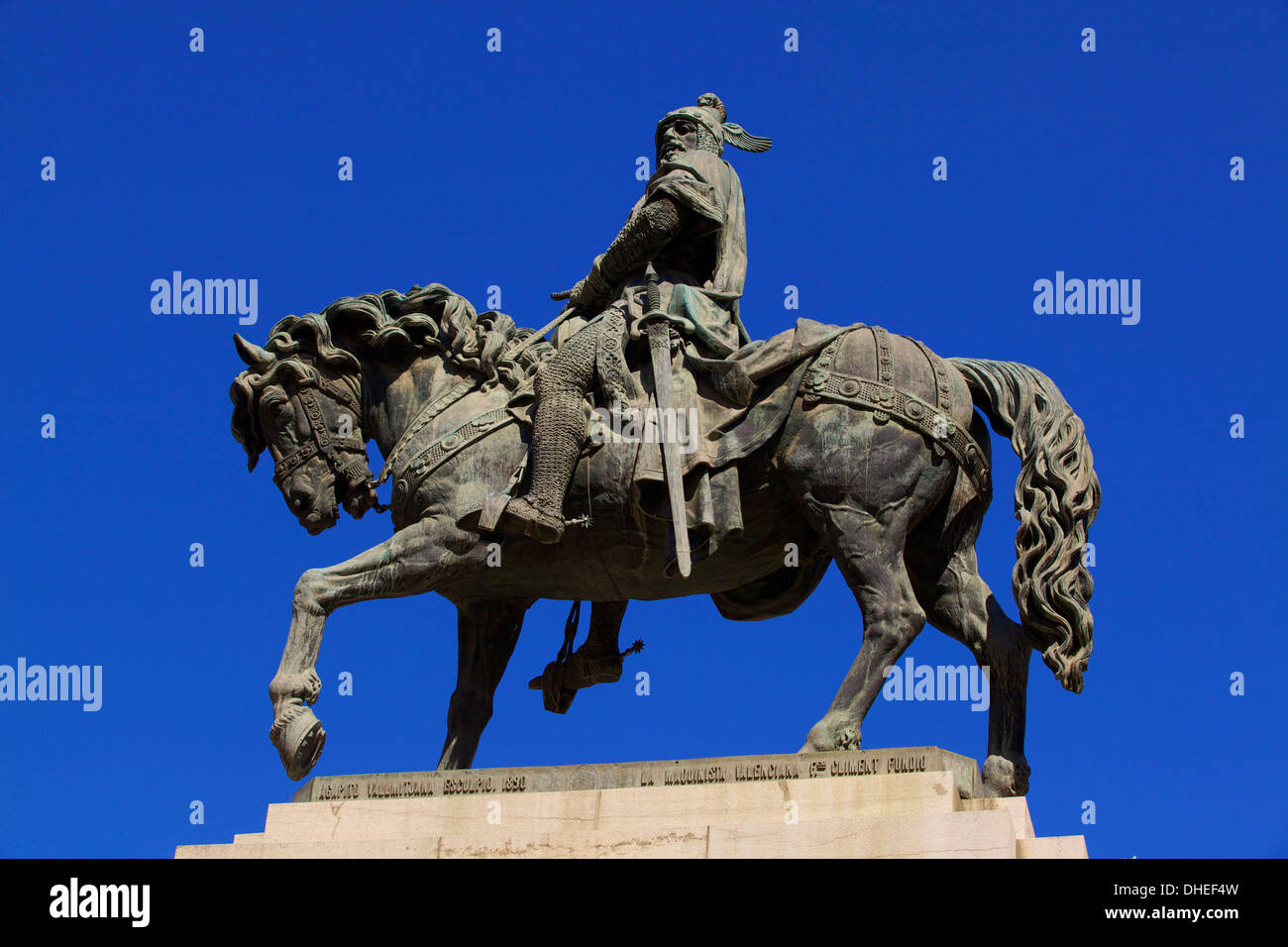 Statue of King Jaume I, Valencia, Spain, Europe - Stock Image