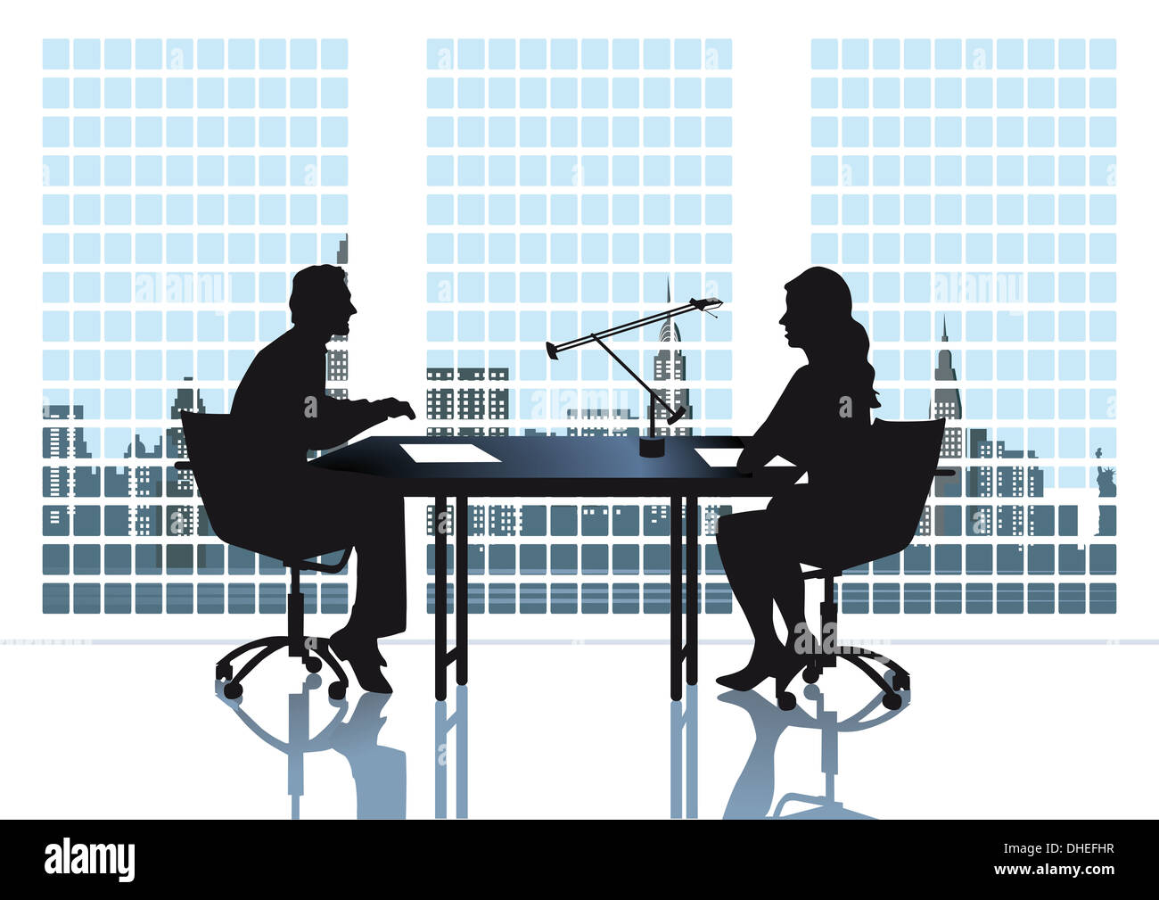 Discussion in the office - Stock Image