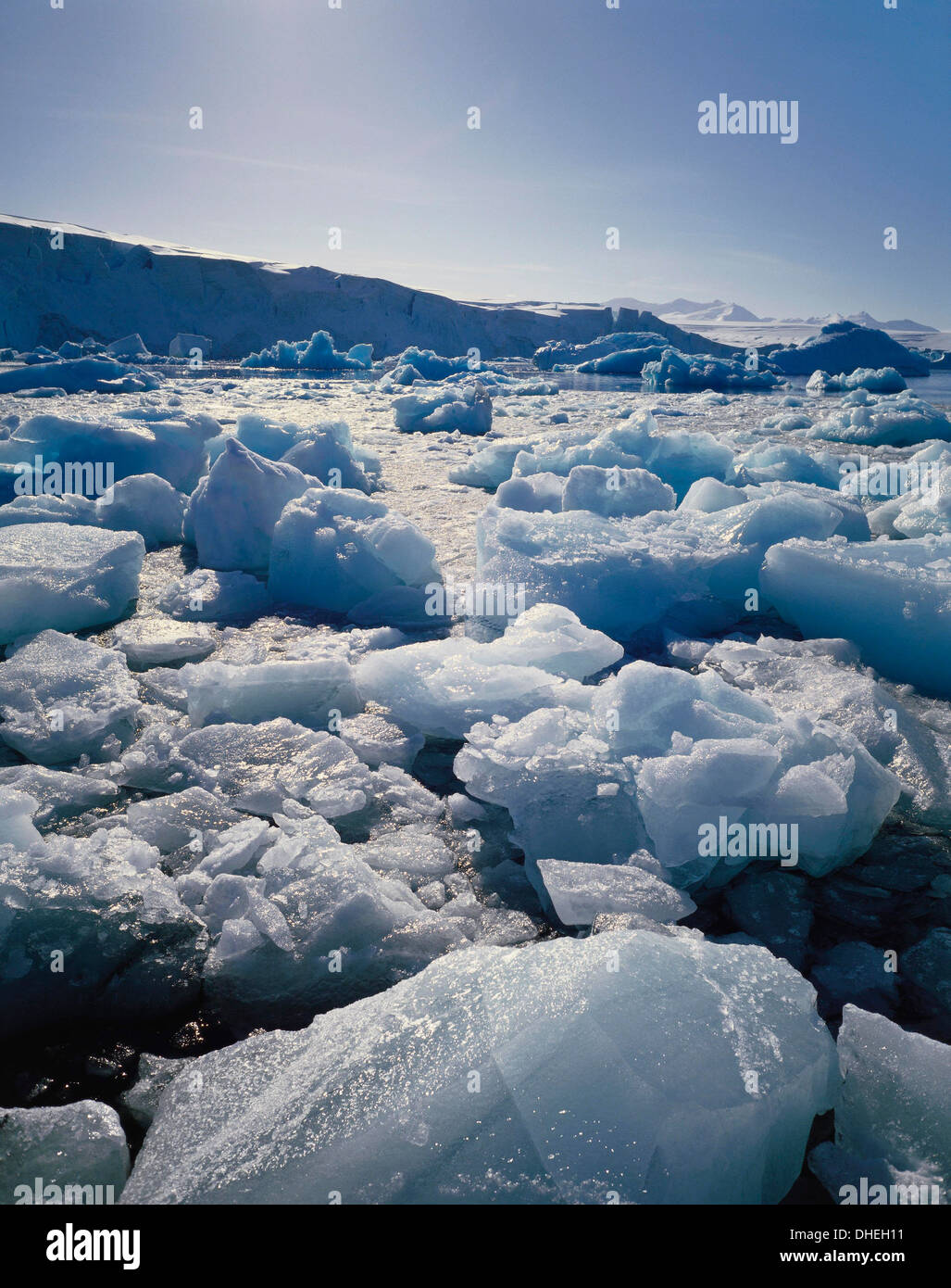 Ice on Antartica, Close Up - Stock Image