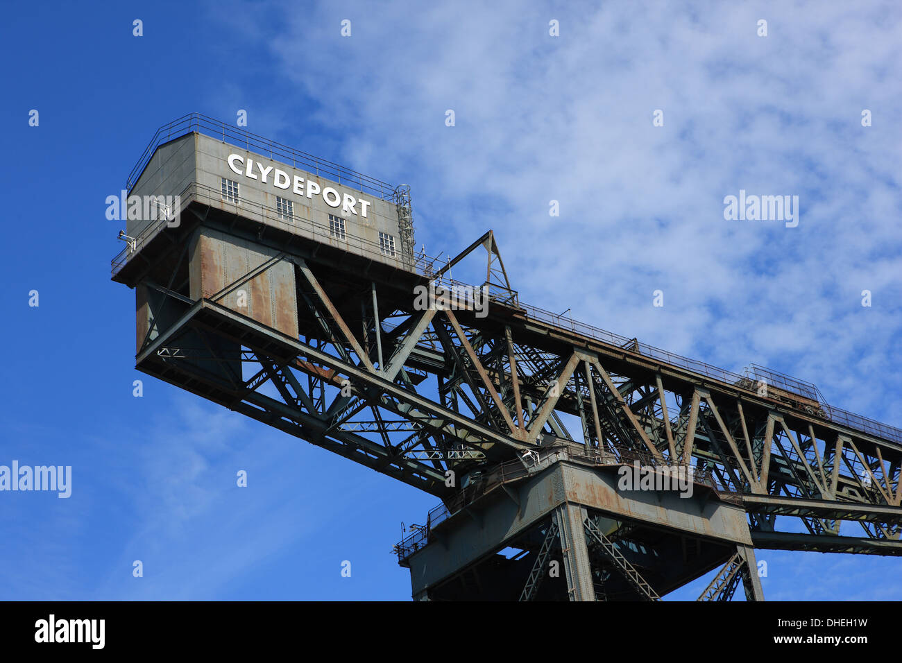 Finnieston Crane or Stobcross Crane now disued but a landmark of Scottish engineering, north bank of the River Clyde in Glasgow - Stock Image
