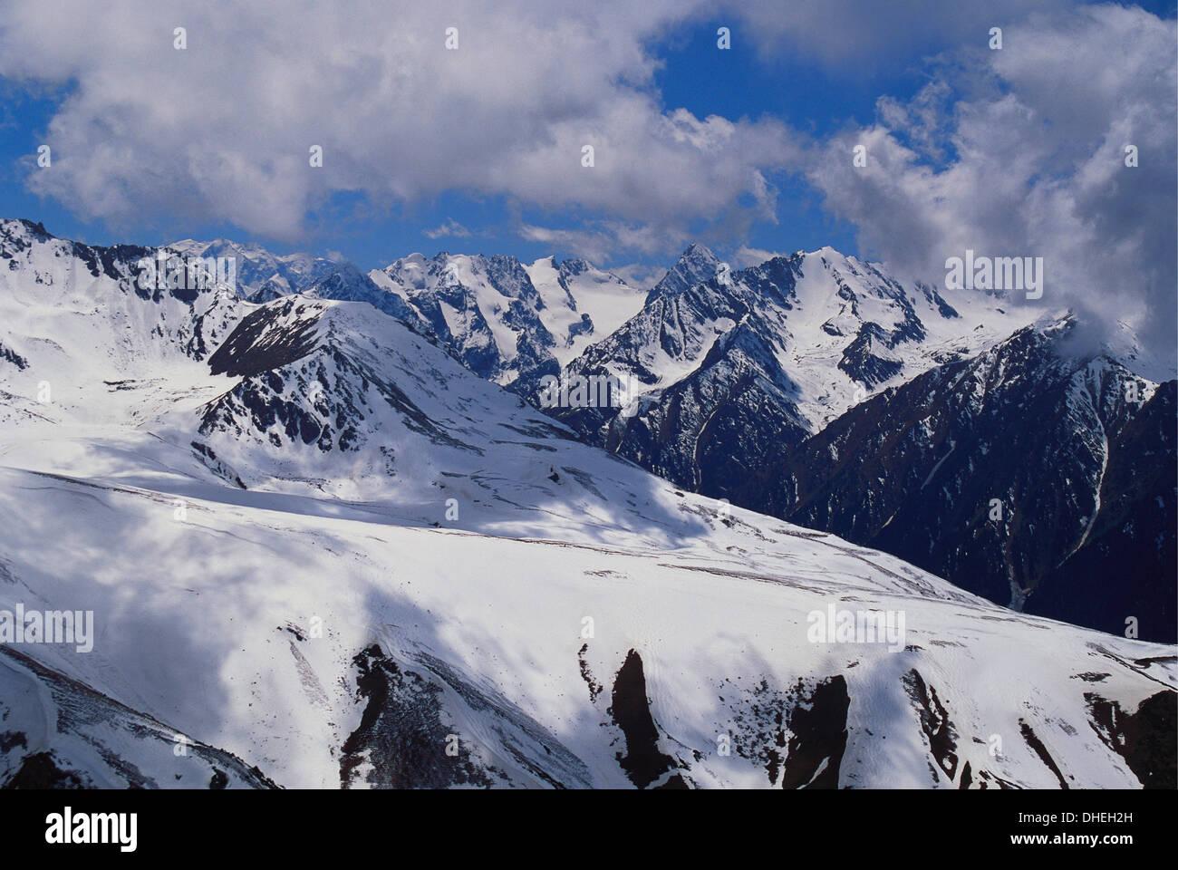 Cis Tien Shan Range Near Lake Issykkul, Kyrgyzstan - Stock Image