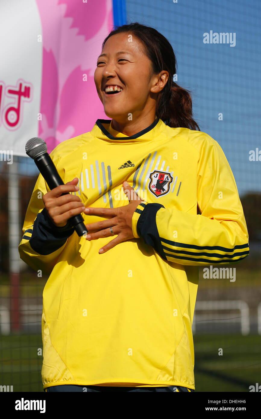 Yuki Ogimi, NOVEMBER 8, 2013 - Football : Nadeshiko Friends Square Kick-off event at National Yoyogi Stadium Futsal Court, Tokyo, Japan. (Photo by AFLO SPORT) [0006] - Stock Image