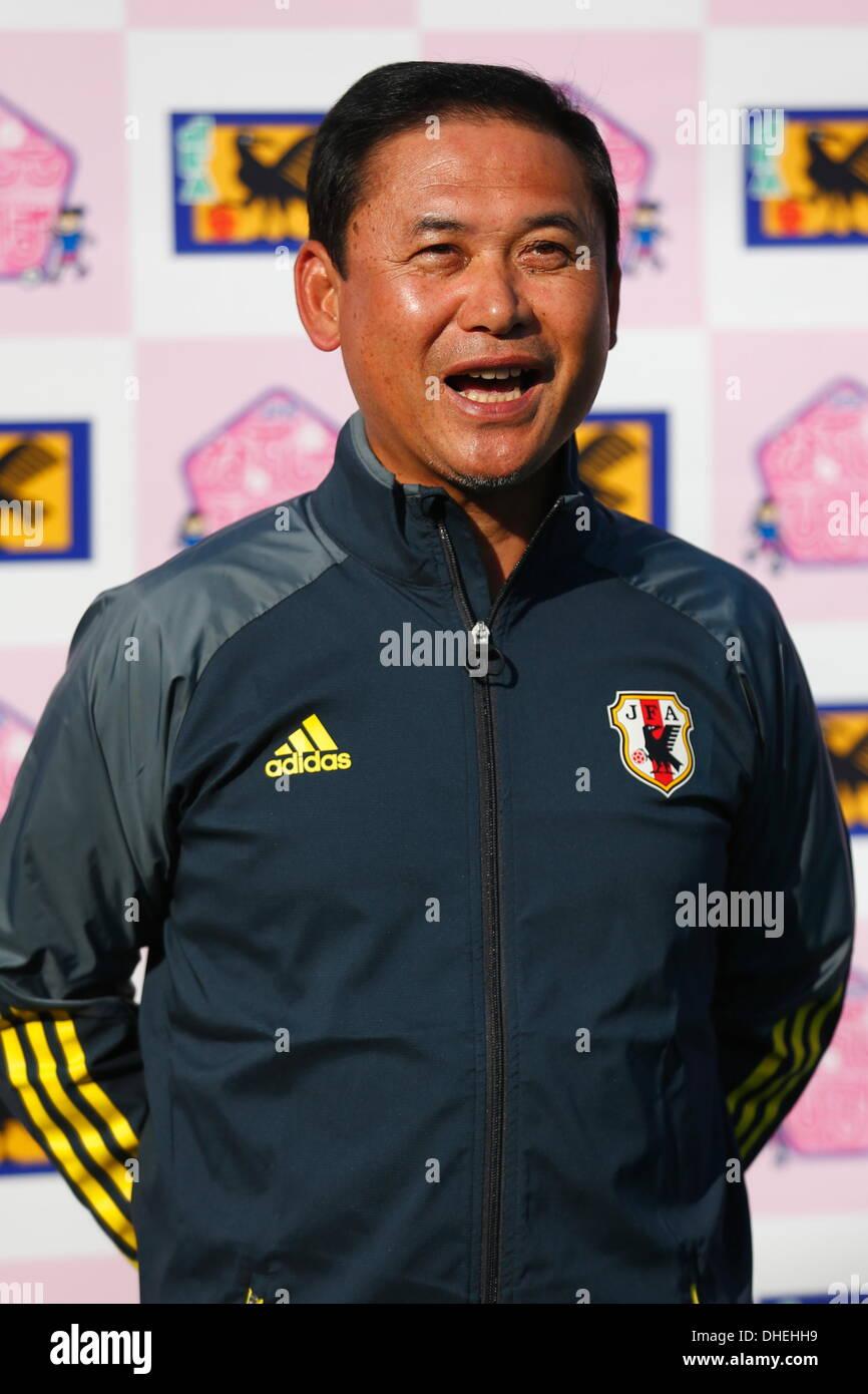 Norio Sasaki, NOVEMBER 8, 2013 - Football : Nadeshiko Friends Square Kick-off event at National Yoyogi Stadium Futsal Court, Tokyo, Japan. (Photo by AFLO SPORT) [0006] - Stock Image
