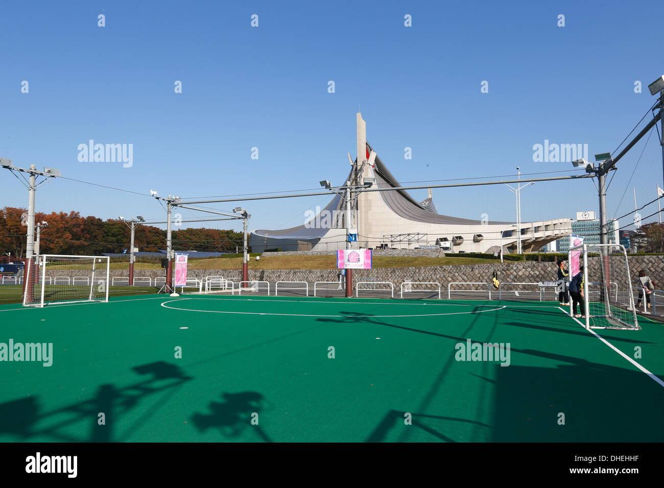 General view, NOVEMBER 8, 2013 - Football : Nadeshiko Friends Square Kick-off event at National Yoyogi Stadium Futsal Court, Tokyo, Japan. (Photo by AFLO SPORT) [0006] - Stock Image
