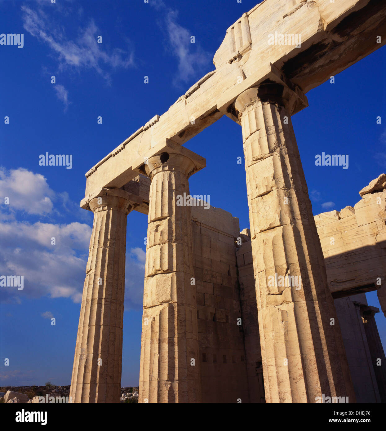 Propylaea, Acropolis, Athens, Greece Stock Photo