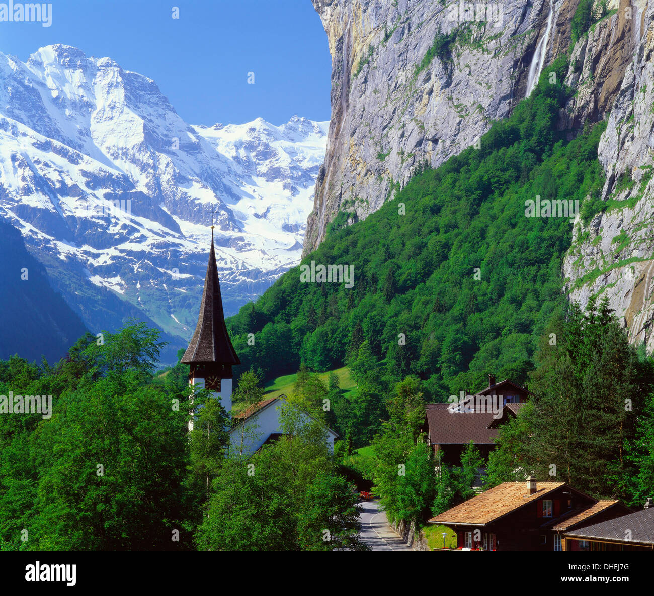 Lauterbrunnen, Jungfrau Region, Switzerland Stock Photo