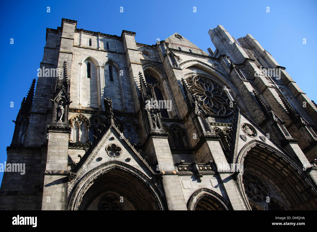 St. John the Divine Cathedral, said to be the world's largest cathedral, Manhattan, New York City, New York, USA - Stock Image