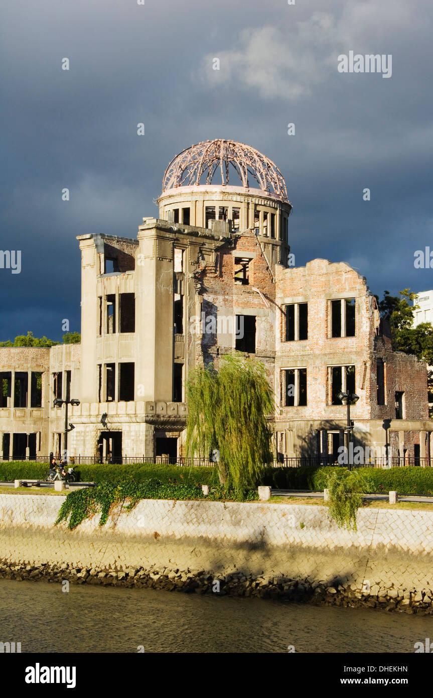 Memorial Atomic A Bomb Site at Hiroshima Peace Park, UNESCO, Hiroshima City, Hiroshima Prefecture, Honshu Island, - Stock Image