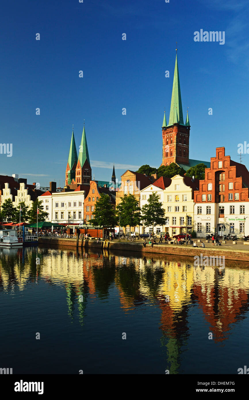 Old Town of Lubeck, Schleswig-Holstein, Germany, Europe - Stock Image