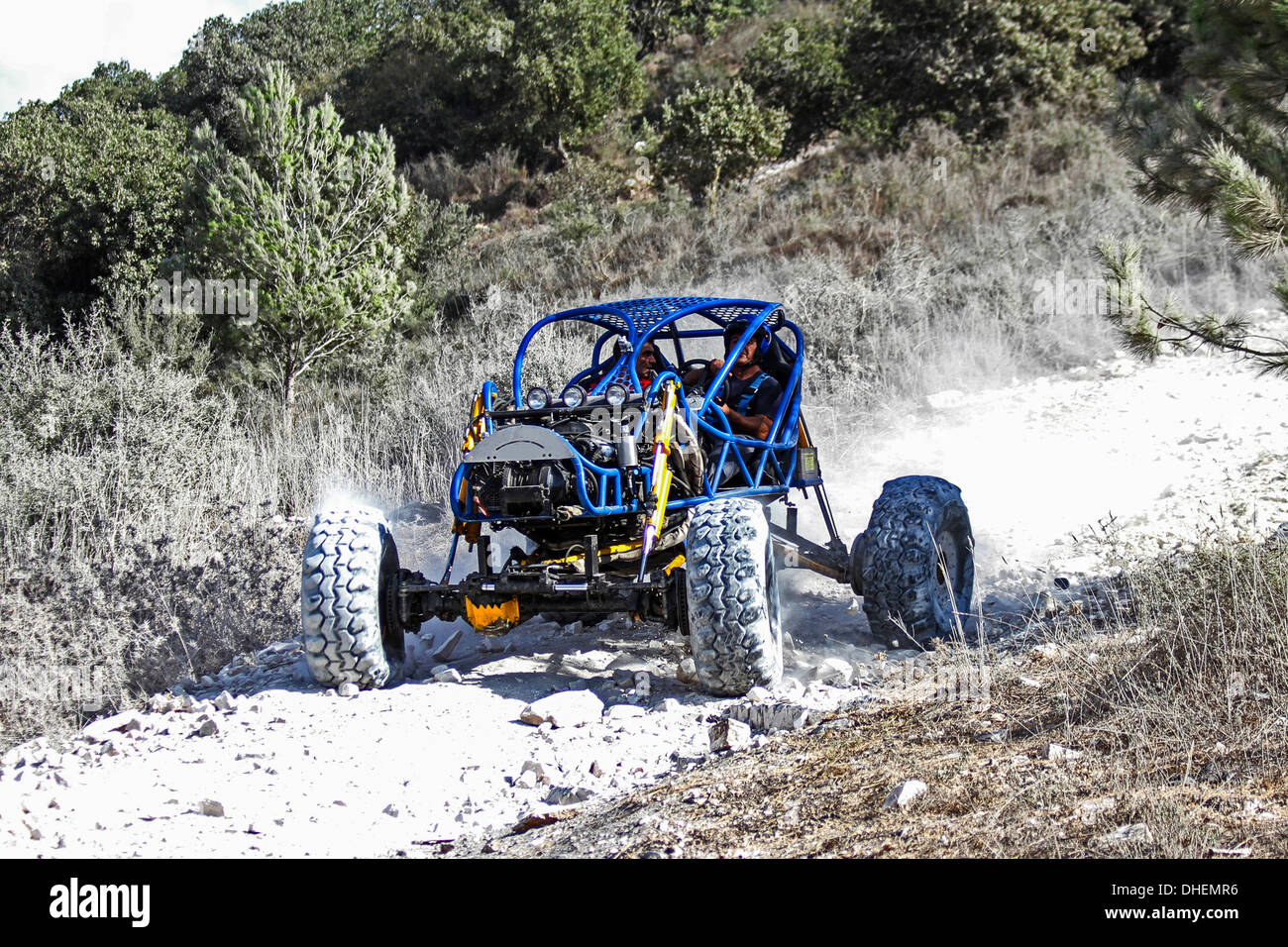 Cross country rally. A racing buggy event. Photographed in Israel - Stock Image