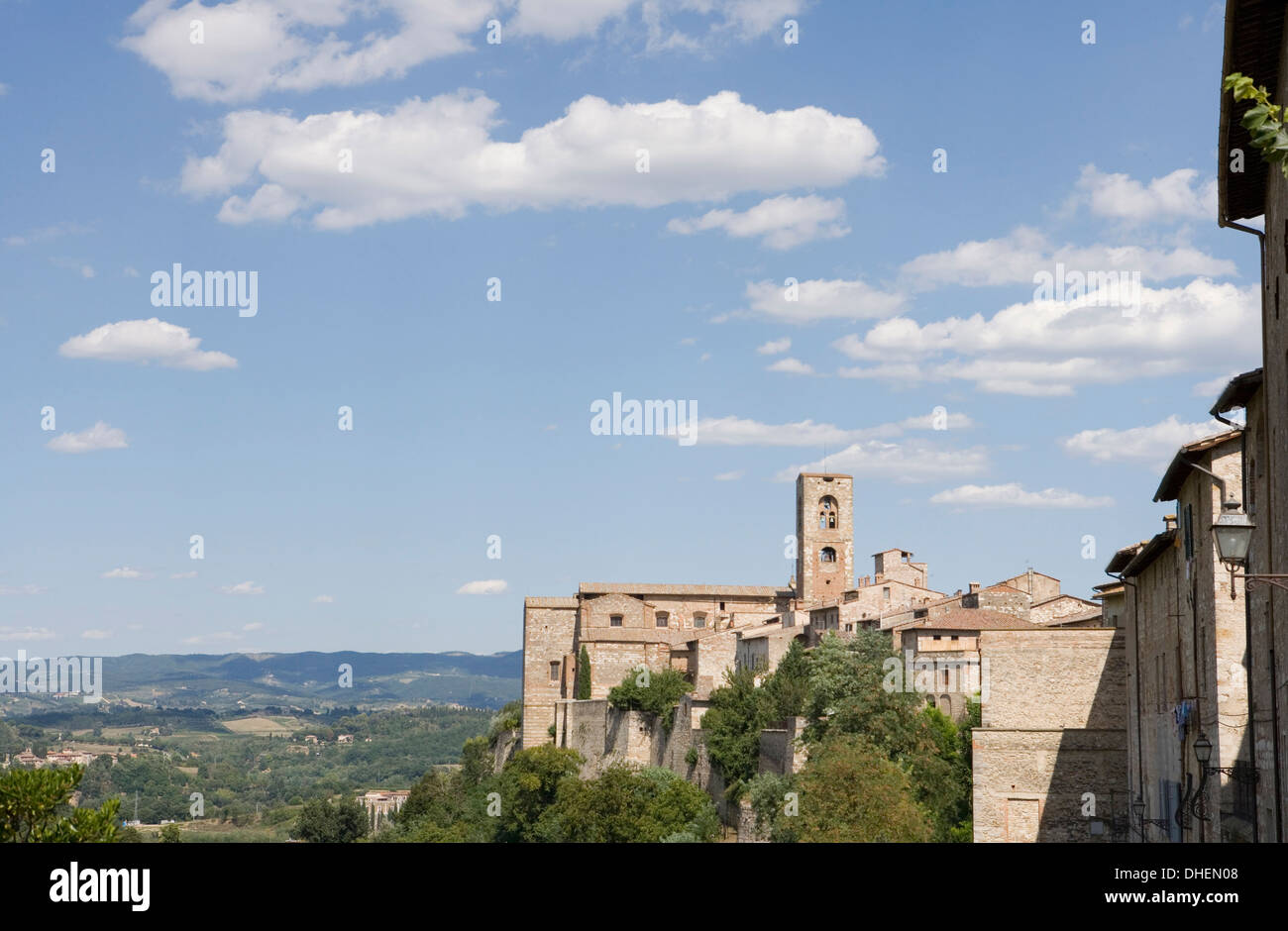 Duomo of Colle Alta in Colle di val d'Elsa, Tuscany, Italy - Stock Image