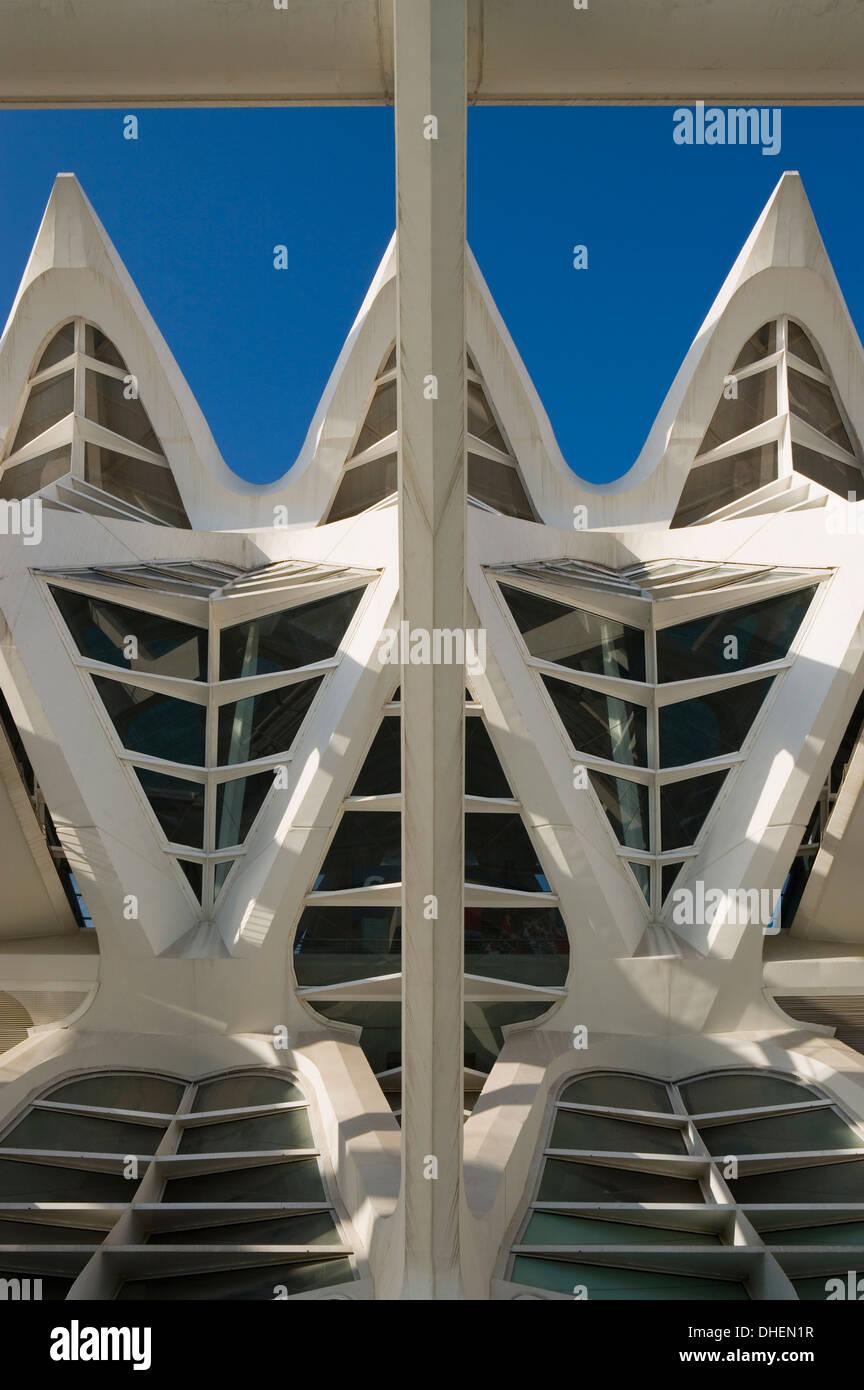 Museu de les Ciencies Principe Felipe, Ciutat de les Arts i de les Ciencies, Valencia, Costa del Azahar, Spain - Stock Image