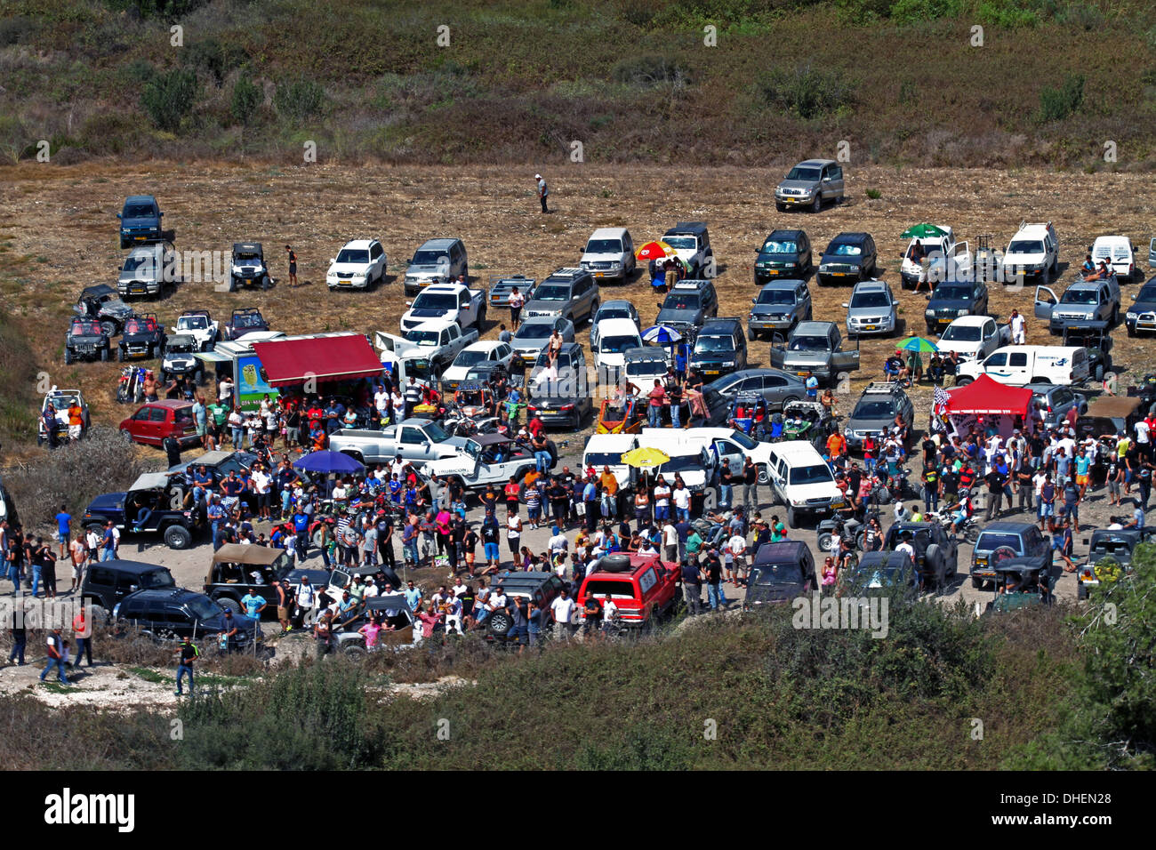 Cross country rally. A 4x4 event photographed in Israel - Stock Image