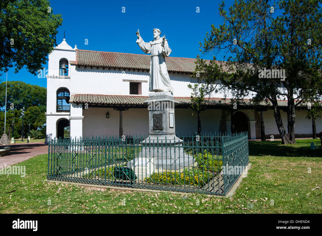 Monastery on Plaza de las Tres Cultures, Santa Fe, capital of the province of Santa Fe, Argentina - Stock Image