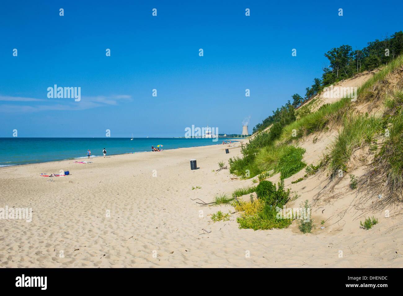 Indiana sand dunes, Indiana, United States of America, North America - Stock Image