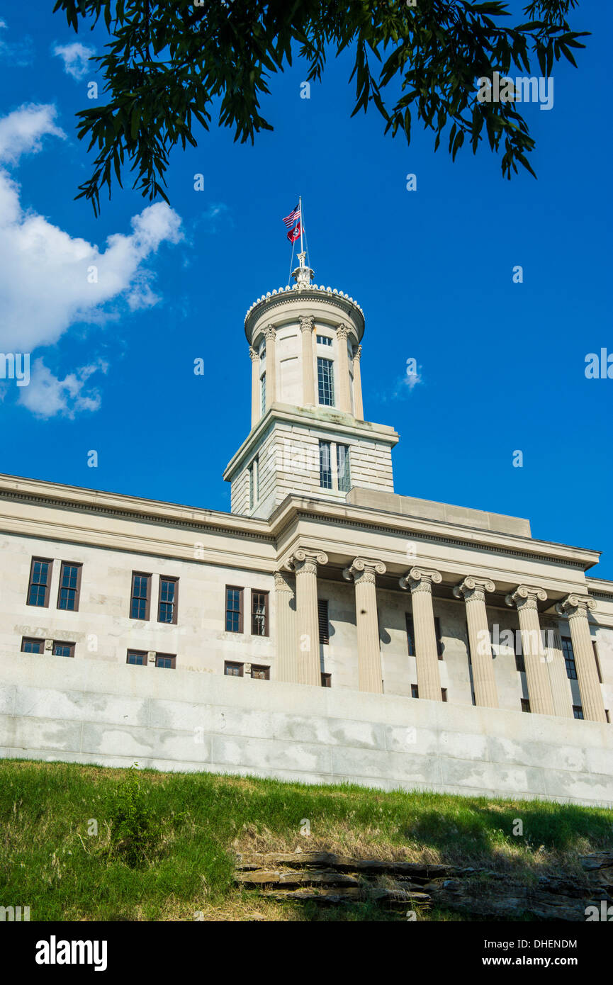 The State Capitol in Nashville, Tennessee, United States of America, North America - Stock Image
