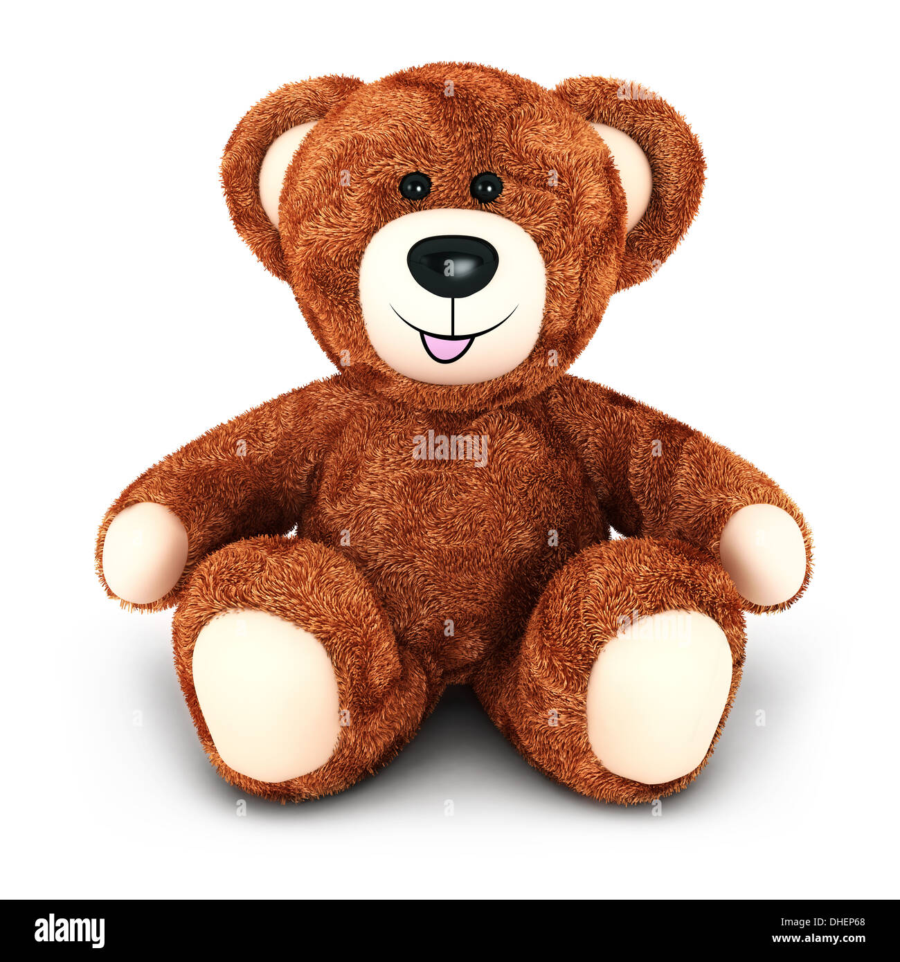 3d teddy bear, isolated white background, 3d image Stock Photo