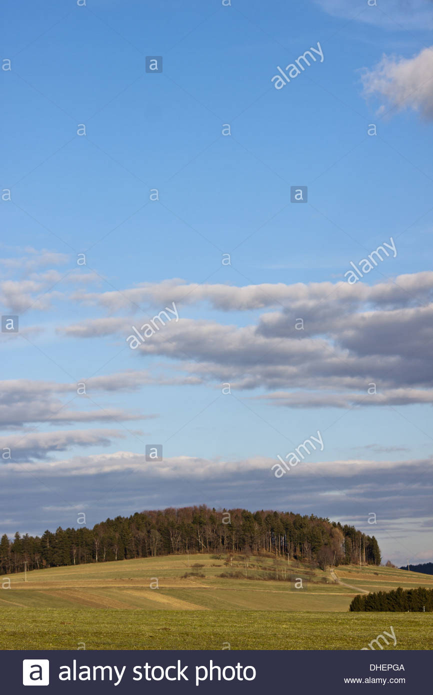 Landscape in upright format - Stock Image