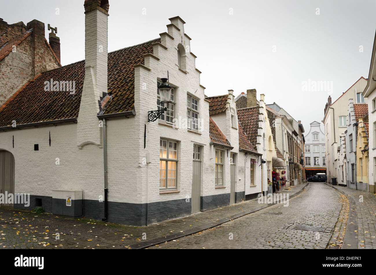 typical medieval buildings, Bruges - Stock Image