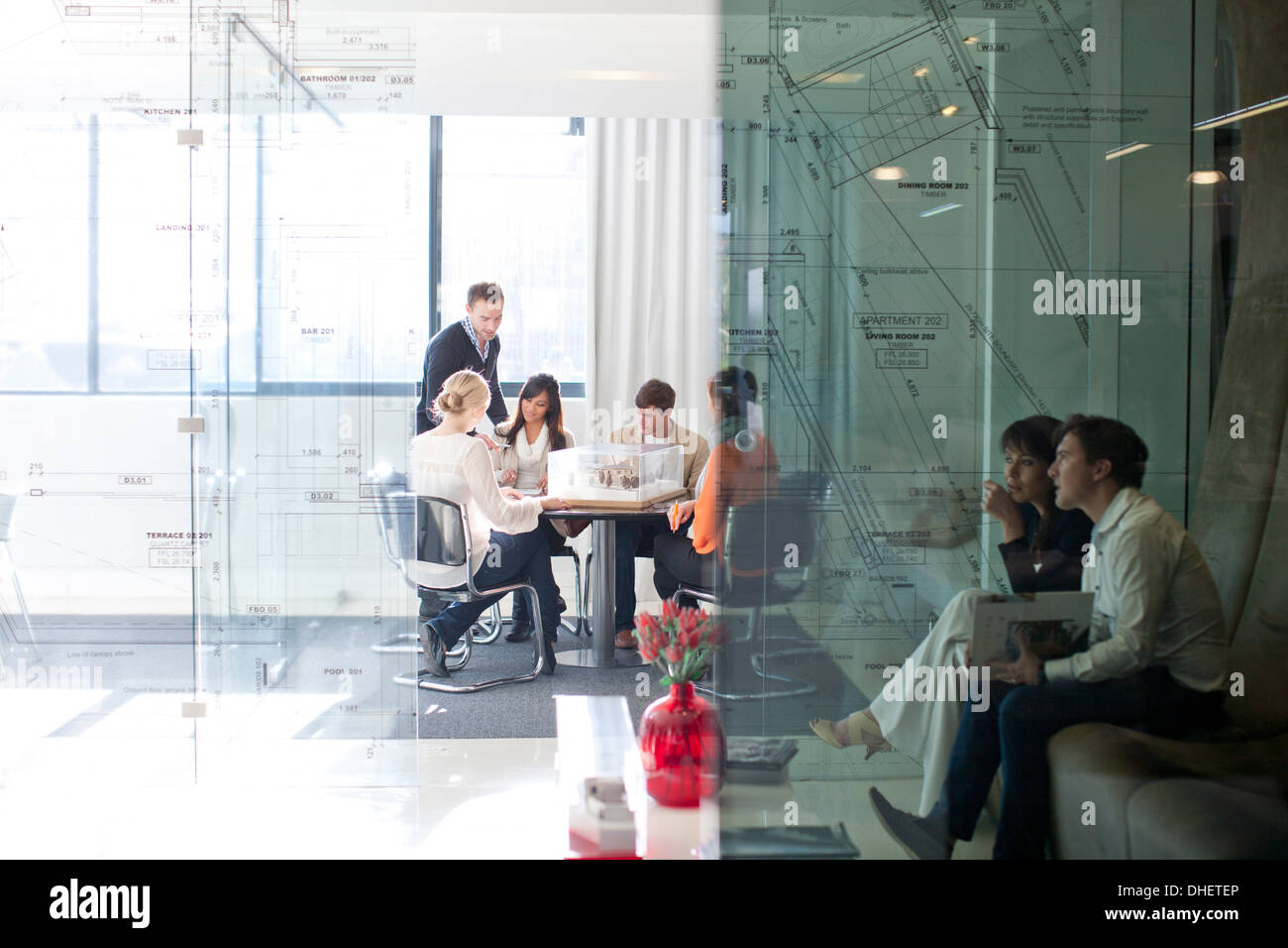 Meetings in architects office - Stock Image