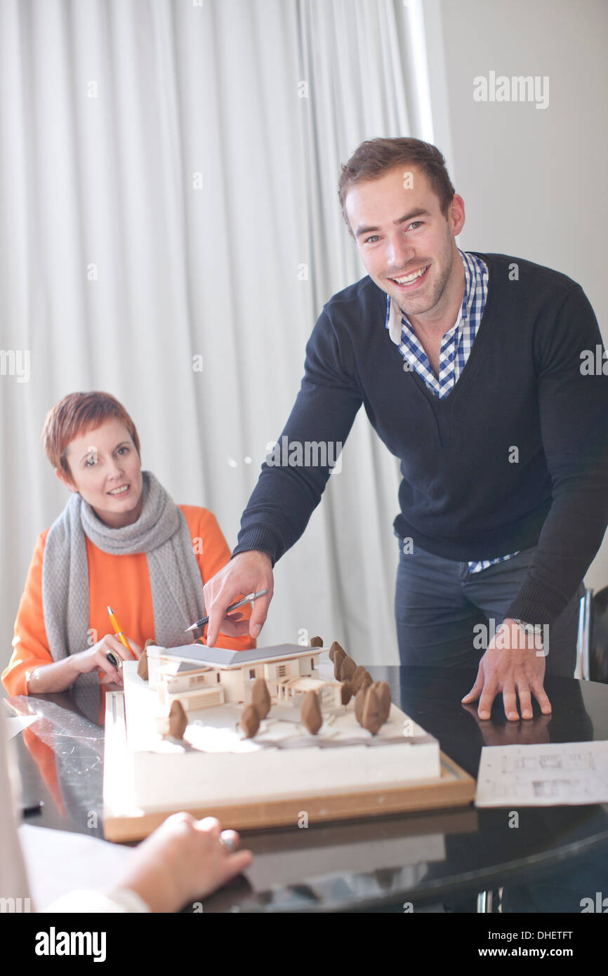 Architects and architectural model - Stock Image