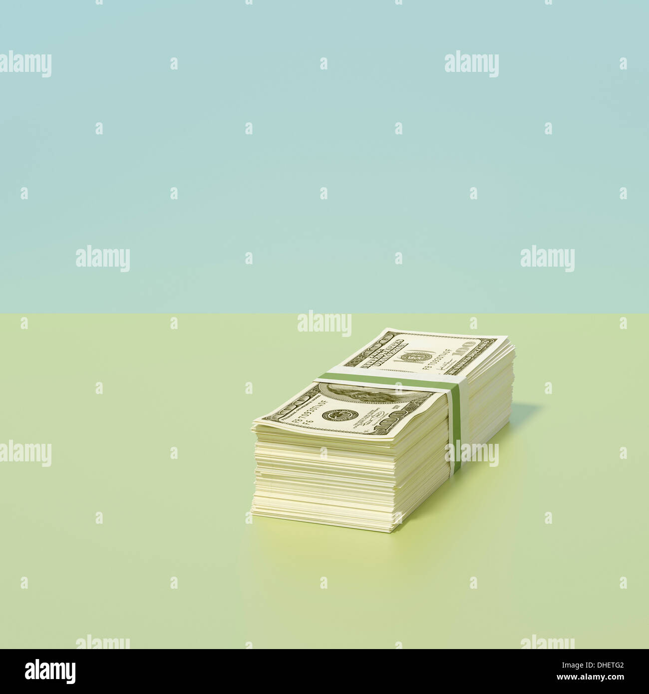 Stack of dollars - Stock Image