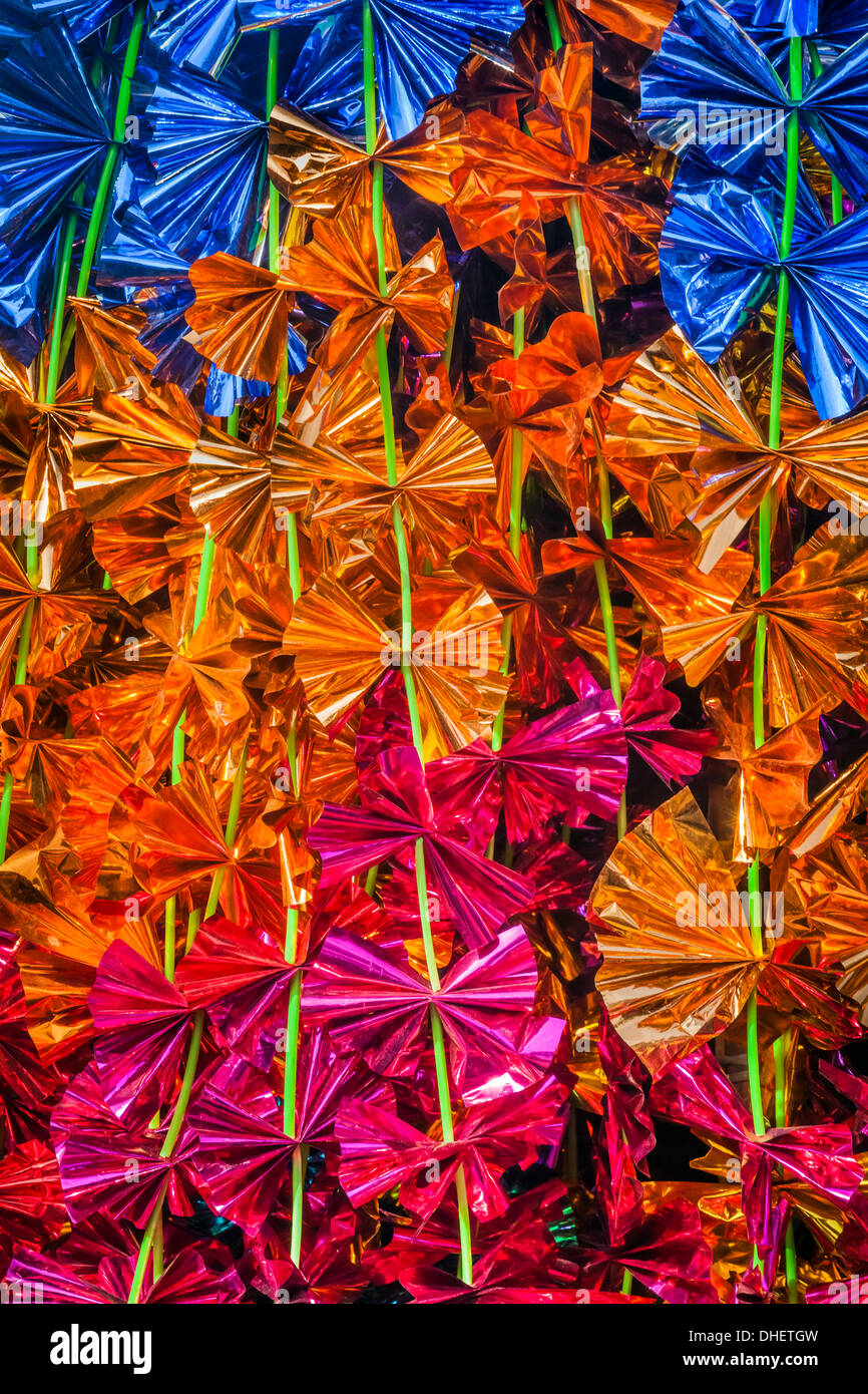 India, Rajasthan, Jaipur, Diwali decorative garlands - Stock Image