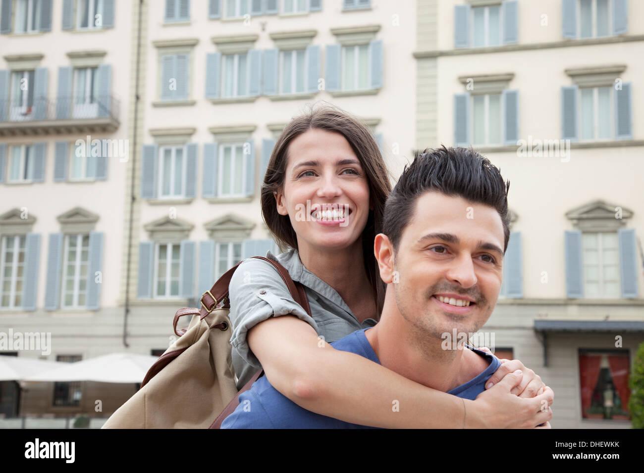 Couple on city break, Florence, Tuscany, Italy - Stock Image