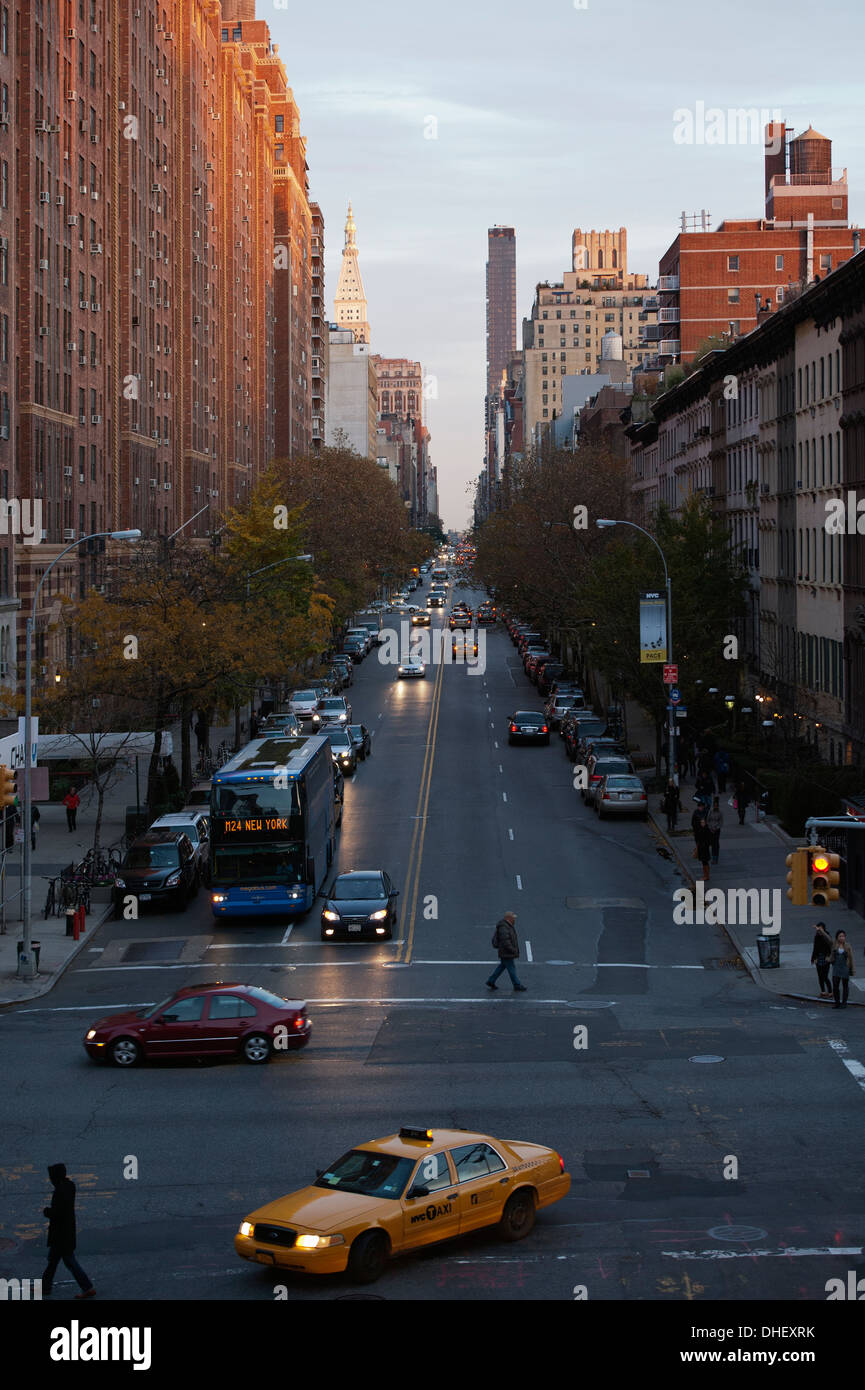 View From High line Park New York - Stock Image